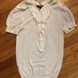Off white short sleeve sweater from Express